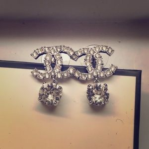 Auth. Used Chanel Crystals Earrings